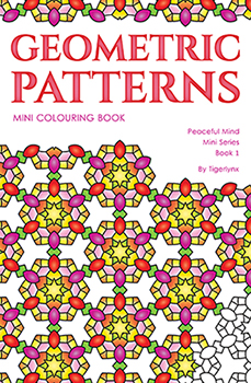 Geometric Patterns Mini Coloring Book by Tigerlynx