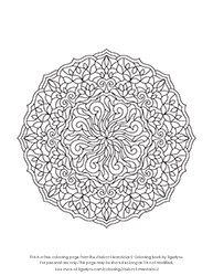 Free Abstract Mandala Colouring Page by Tigerlynx