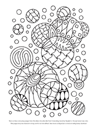 free easy doodle abstract colouring page by tigerlynx