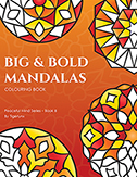 Big & Bold Mandalas Colouring Book by Tigerlynx