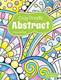 Easy Doodle  Abstract Colouring Book by Tigerlynx