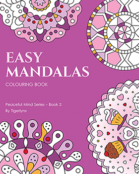 Easy Mandalas Coloring Book by Tigerlynx