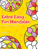 Extra Easy Fun Mandalas Colouring Book by Tigerlynx