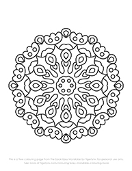 Free Easy Mandala Colouring Page by Tigerlynx