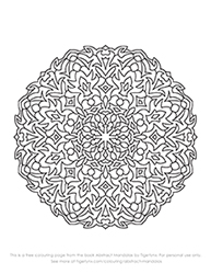 Free Abstract Mandalas Colouring Page by Tigerlynx