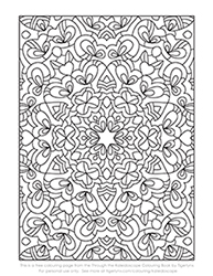 Free Kaleidoscope Pattern Colouring Page by Tigerlynx