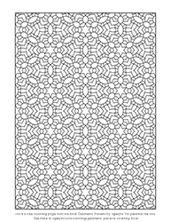 Free Geometric Pattern Colouring Page by Tigerlynx
