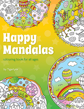 Happy Mandalas Coloring Book by Tigerlynx