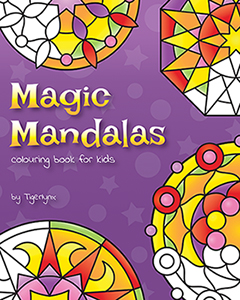 magic mandalas colouring book for kids by tigerlynx