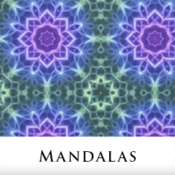 Mandala Print Fabric by Tigerlynx, from Zazzle