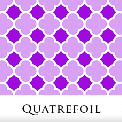 Quatrefoil Fabric by Tigerlynx, from Zazzle