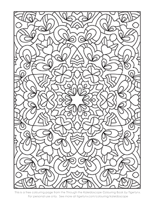 Free Kaleidoscope Colouring Page