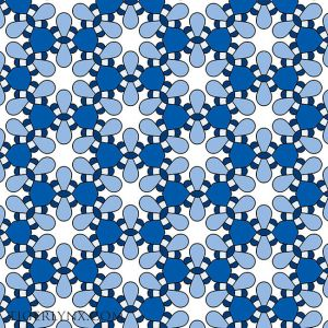 Blue and White Retro Pattern