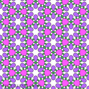 Pink, Purple and Green Retro Pattern