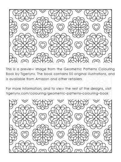 Geometric Art Coloring Book : Geometric patterns colouring book