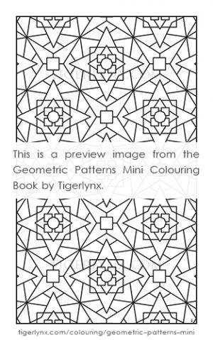 Geometric Patterns Mini Colouring Book