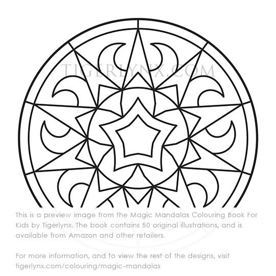 below you can see previews of all the images in magic mandalas colouring book for kids just click the image thumbnails to enlarge - Kids Colouring Book
