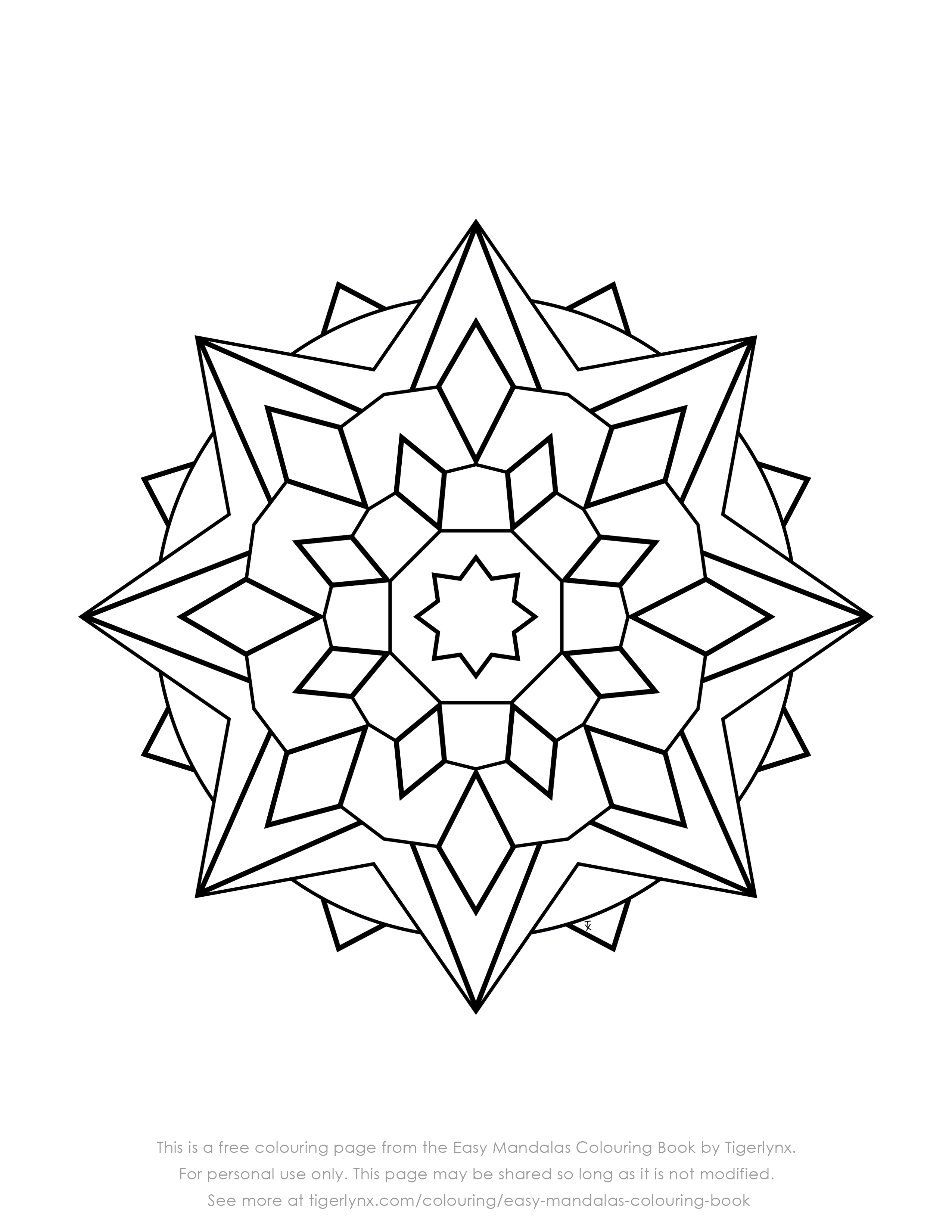 Simple Geometric Pattern Coloring Pages