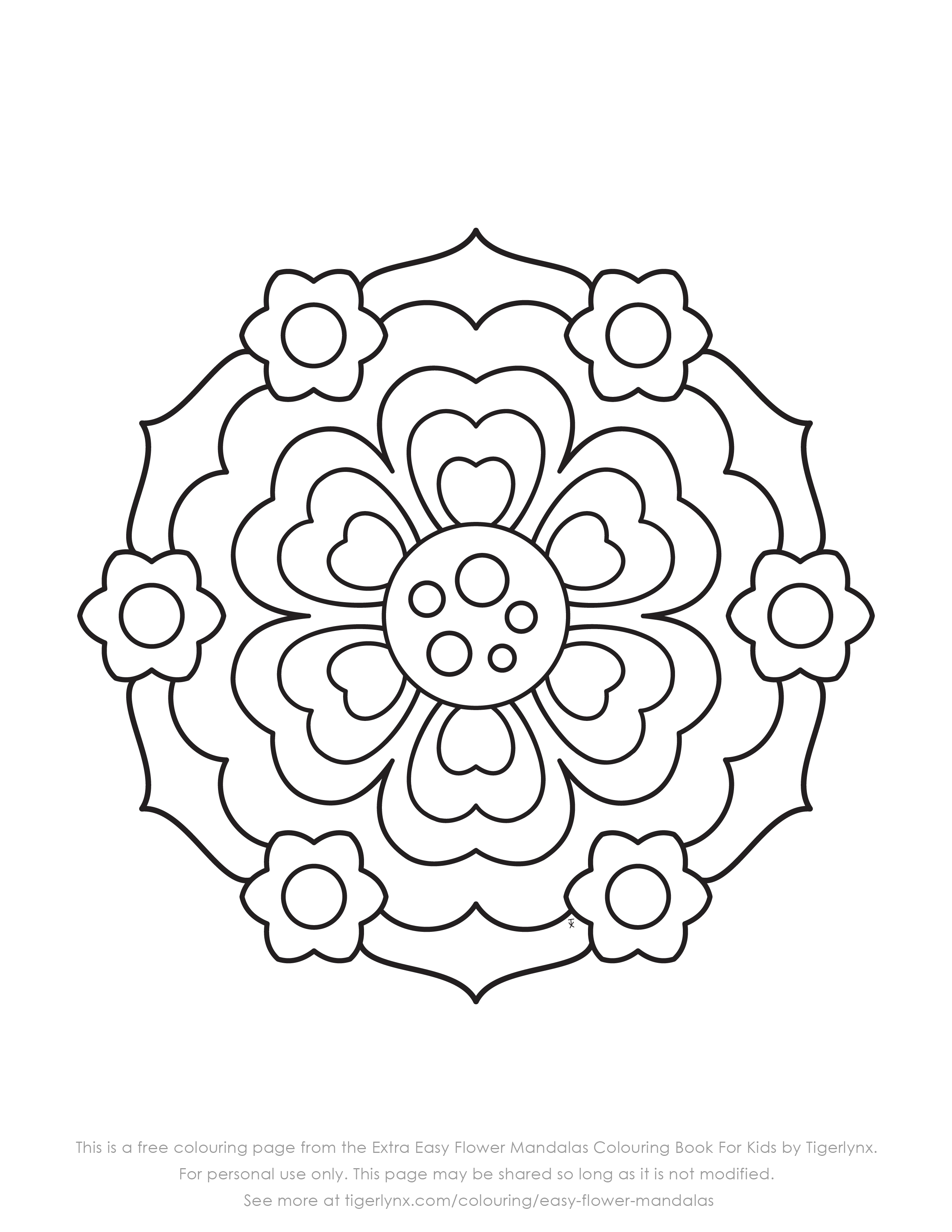 Extra Easy Flower Mandalas Sample