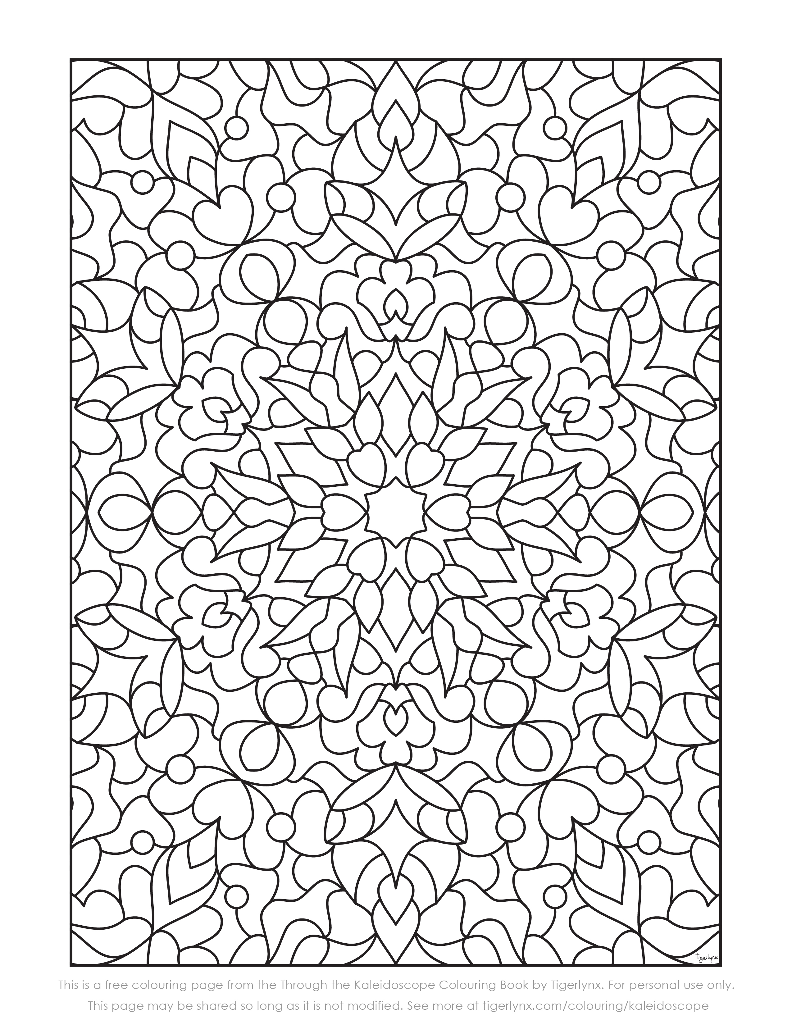Following The Release Of My Latest Adult Colouring Book Through Kaleidoscope Ive Now Added Another Free Page For You To Download