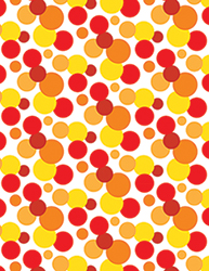 Red & Yellow Spotty Notebook by Tigerlynx