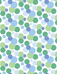 Blue & Green Spotty Notebook by Tigerlynx