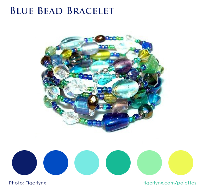 Blue Bead Bracelet Colour Palette by Tigerlynx