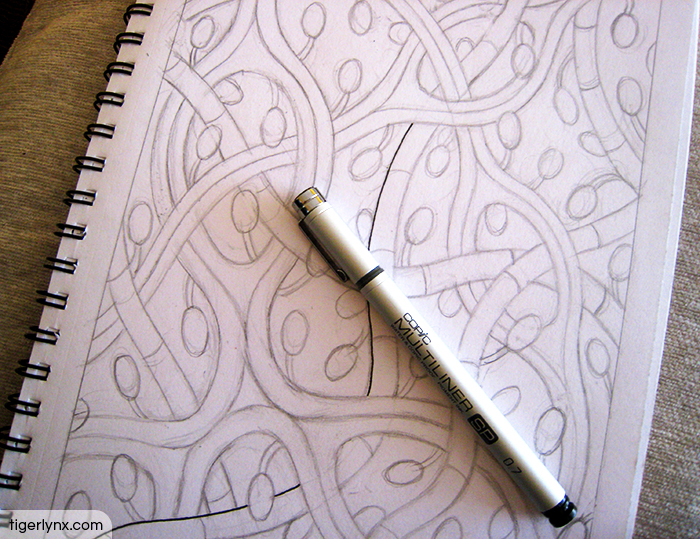 Abstract colouring page WIP by Tigerlynx