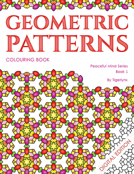 Geometric Patterns Colouring Book - digital download
