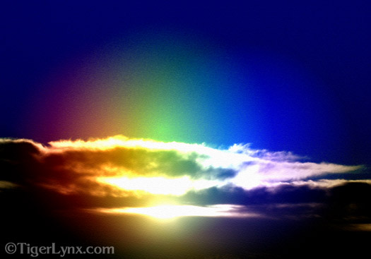 Blue Rainbow Sunset
