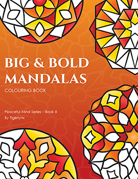 Big & Bold Mandalas Coloring Book by Tigerlynx