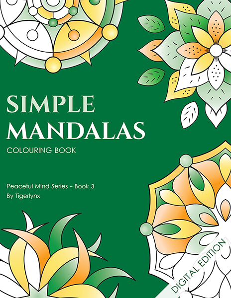 Simple Mandalas Colouring Book - digital download