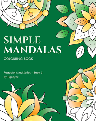 Simple Mandalas Colouring Book Cover