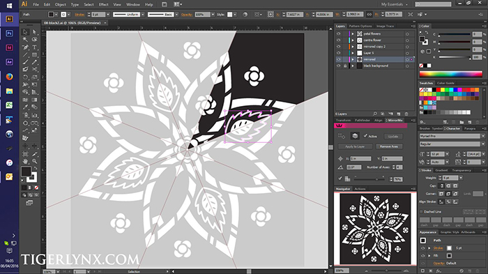 Easy Mandalas black page book - work in progress