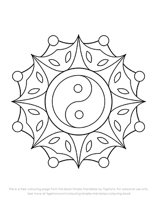 related simple mandalas coloring pages - photo#31